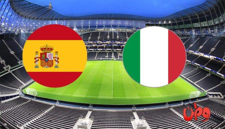 مباراة منتخب إيطاليا وإسبانيا في دوري الأمم الأوروبية