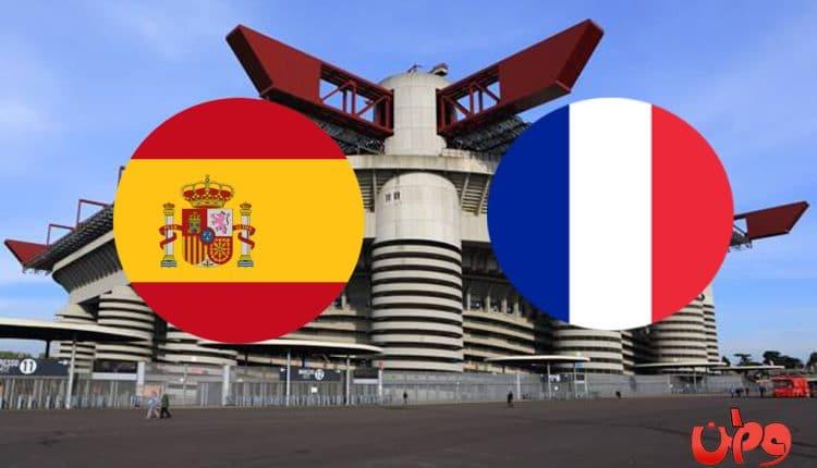 مباراة منتخب فرنسا وإسبانيا في دوري أمم أوروبا